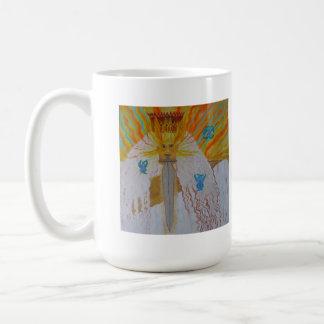 Antiguo de arte cristiano de la pintura de dios de tazas