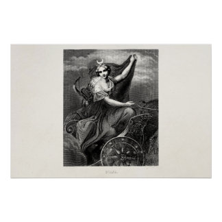 Antiguo romano griego de Diana Artemis de la diosa Póster