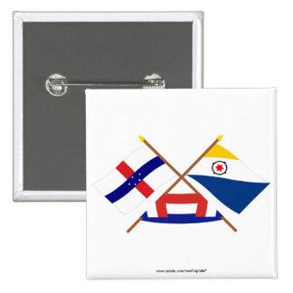 Antillas holandesas y banderas cruzadas Bonaire Pins