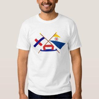 Antillas holandesas y banderas cruzadas Bonaire Remera
