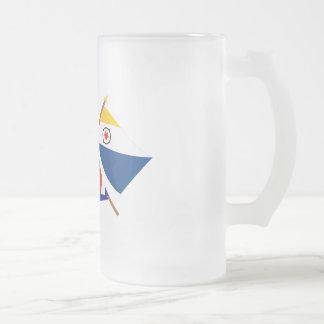 Antillas holandesas y banderas cruzadas Bonaire Tazas