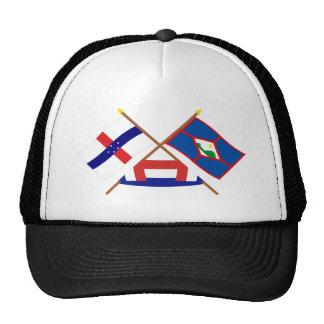 Antillas holandesas y banderas cruzadas Eustatius  Gorro