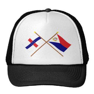 Antillas holandesas y banderas cruzadas Maarten de Gorro De Camionero