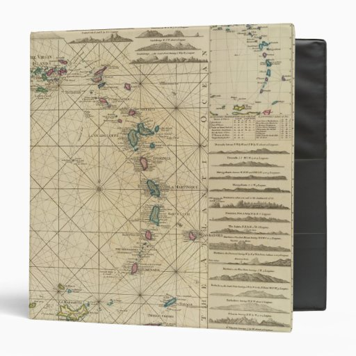 "Antillas, islas de Charibbee Carpeta 1 1/2"""