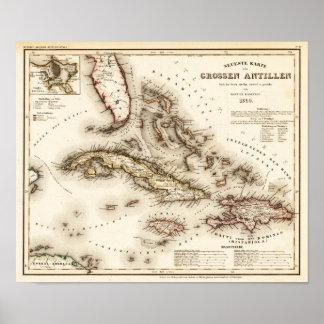 Antillas Meyer y reproducción 1850 de Radefeld Impresiones