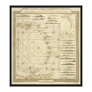 Antilles Charibbee Caribbean Virgin Isles Map 1784 Canvas Print