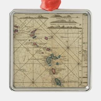 Antilles, Charibbee Islands Metal Ornament