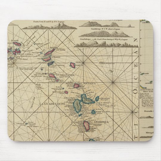 Antilles, Charibbee Islands Mouse Pad