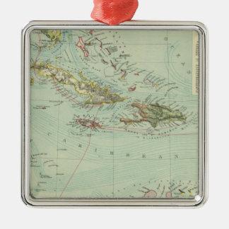 Antilles or West Indies Metal Ornament