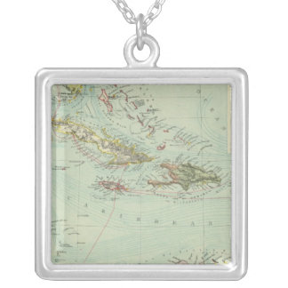 Antilles or West Indies Silver Plated Necklace
