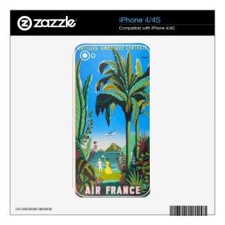 Antilles Retro Design Skin For iPhone 4