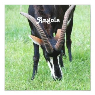 "Antílope de Sable de Angola Invitación 5.25"" X 5.25"""