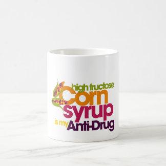 Antinarcótico divertido taza de café