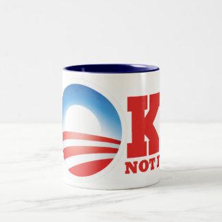 AntiObama Obama es un socialista Taza De Dos Tonos