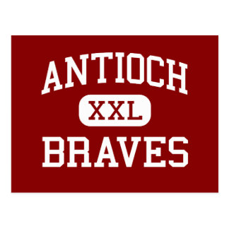 Antioch - Braves - Middle - Shawnee Mission Kansas Postcard