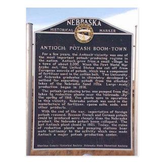 Antioch, marcador histórico de Nebraska Postales