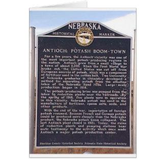 Antioch, marcador histórico de Nebraska Tarjeton
