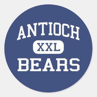Antioch - osos - High School secundaria - Antioch Pegatina Redonda