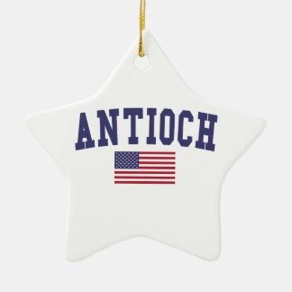 Antioch US Flag Ceramic Ornament