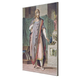 Antiochus, costume for 'Berenice' by Jean Racine, Canvas Print