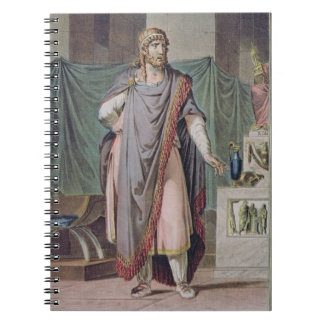 Antiochus, costume for 'Berenice' by Jean Racine, Notebook