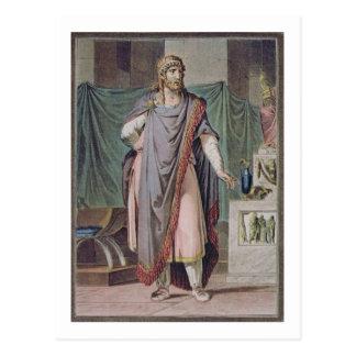 Antiochus, costume for 'Berenice' by Jean Racine, Postcard