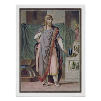 Antiochus, costume for 'Berenice' by Jean Racine, Poster