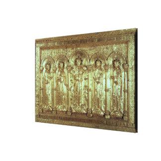 Antipendio que representa a Cristo con los donante Impresion En Lona