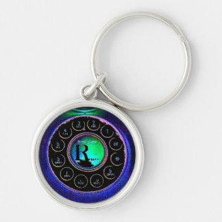 ☺♪Åñtîqúέ& Vîиtãgḕ DialPhone Premium KeyChain♪☺ Silver-Colored Round Keychain