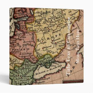 Antiquarian 1721 Map of Europe by Herman Moll 3 Ring Binder