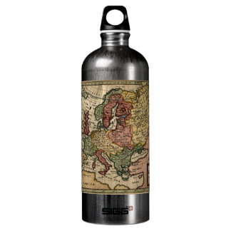 Antiquarian 1721 Map of Europe by Herman Moll Aluminum Water Bottle