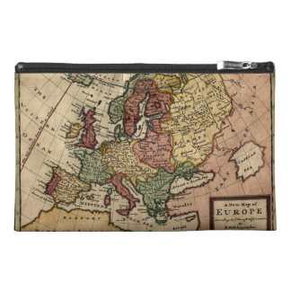 Antiquarian 1721 Map of Europe by Herman Moll Travel Accessory Bag