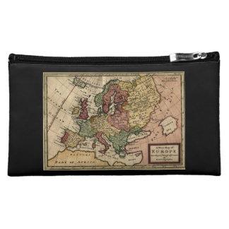 Antiquarian 1721 Map of Europe by Herman Moll Makeup Bag