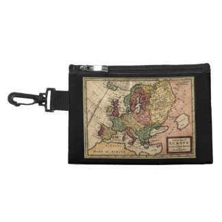 Antiquarian 1721 Map of Europe by Herman Moll Accessories Bag