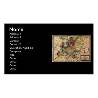 Antiquarian 1721 Map of Europe by Herman Moll Business Card