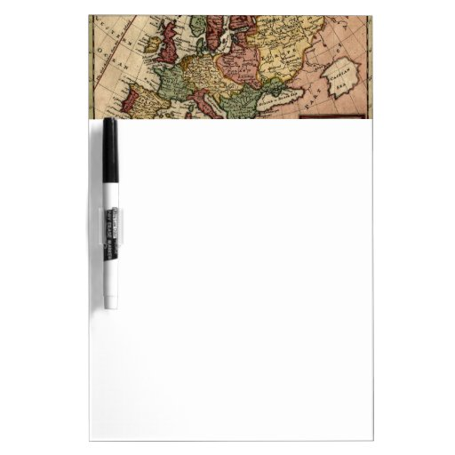 Antiquarian 1721 Map of Europe by Herman Moll Dry Erase Board
