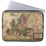 Antiquarian 1721 Map of Europe by Herman Moll Computer Sleeves
