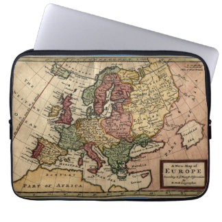 Antiquarian 1721 Map of Europe by Herman Moll Laptop Sleeve
