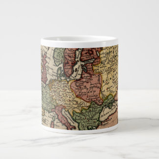 Antiquarian 1721 Map of Europe by Herman Moll Large Coffee Mug