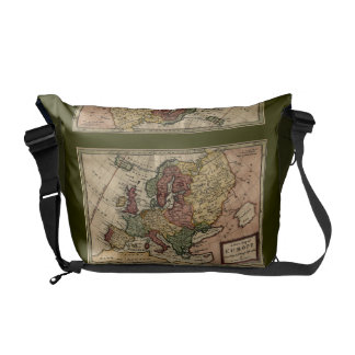Antiquarian 1721 Map of Europe by Herman Moll Courier Bag
