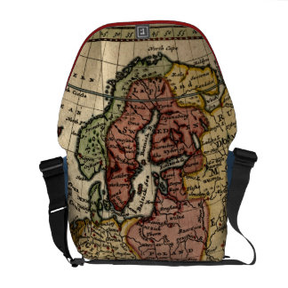 Antiquarian 1721 Map of Europe by Herman Moll Commuter Bags