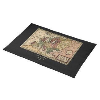 Antiquarian 1721 Map of Europe by Herman Moll Placemat