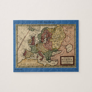 Antiquarian 1721 Map of Europe by Herman Moll Puzzle