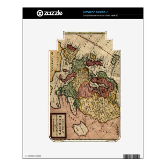 Antiquarian 1721 Map of Europe by Herman Moll Kindle Skin
