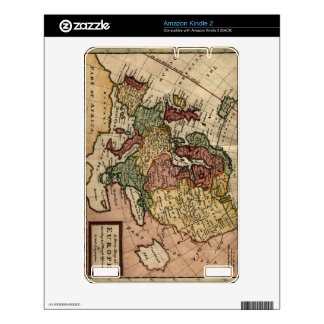 Antiquarian 1721 Map of Europe by Herman Moll Skin For The Kindle