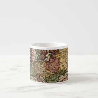 Antiquarian 1721 Map of Europe by Herman Moll 6 Oz Ceramic Espresso Cup