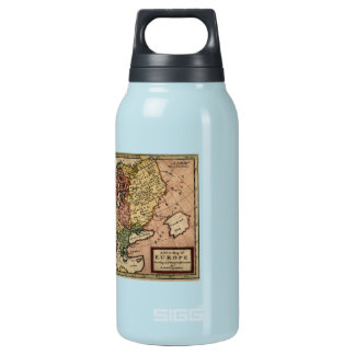 Antiquarian 1721 Map of Europe by Herman Moll Thermos Water Bottle