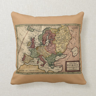 Antiquarian 1721 Map of Europe by Herman Moll Throw Pillow