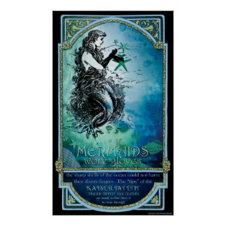 "Antiquarian ""If Mermaids Wore Gloves"" Poster Print"