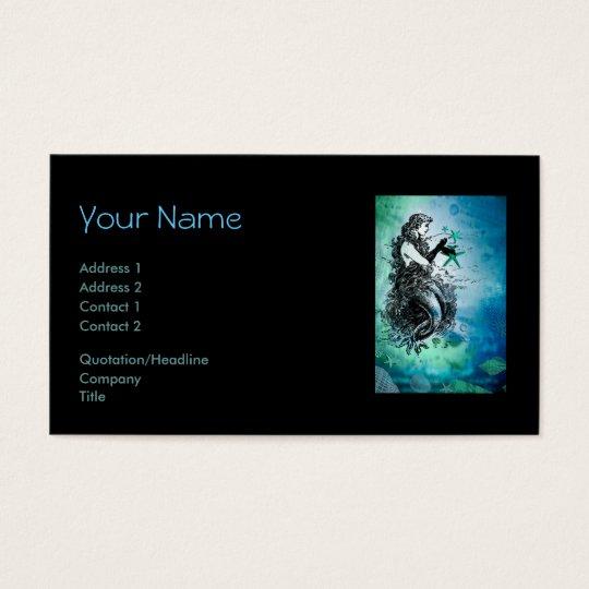 Antiquarian mermaid whimsical business cards zazzle antiquarian mermaid whimsical business cards colourmoves